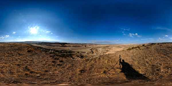 the bardenas reales in panorama 360°, travel to spain