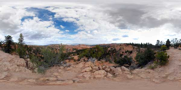 bryce canyon en panorama 360°, utah, usa