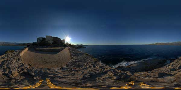 panoramas 360° of the calvi remparts in corsica