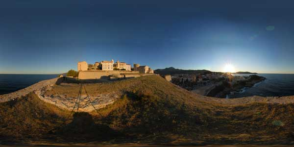 panoramas 360° of the remparts of calvi in corsica