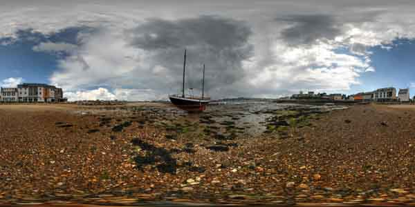 panorama 360° of camaret sur mer in brittany