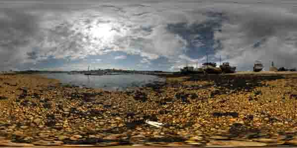 panorama 360° of camaret sur mer in brittany, crozon peninsula