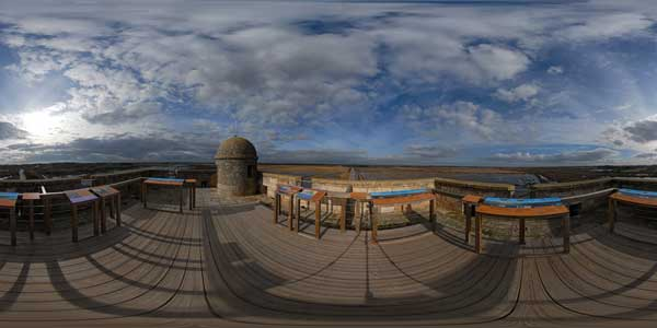 panorama 360° from the tower carbonniere in camargue