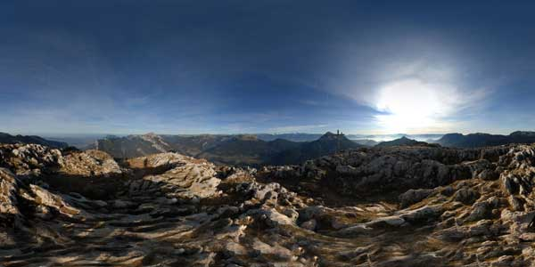 the charmant som in isere, massif de la chartreuse: panorama 360°
