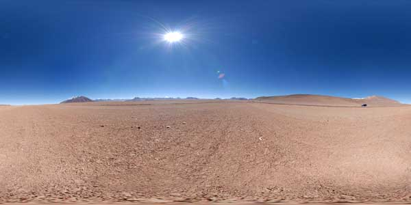 andean altiplano in 360°, chile
