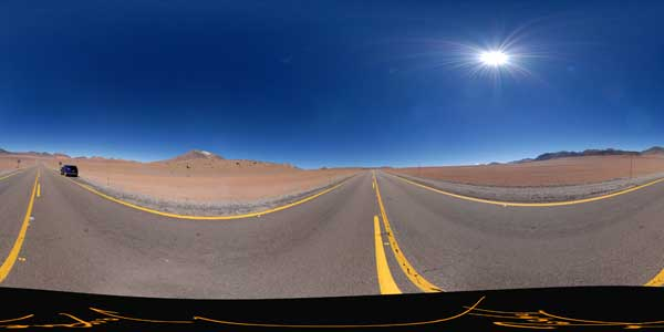 route 27 ch, andean altiplano in 360°, chile