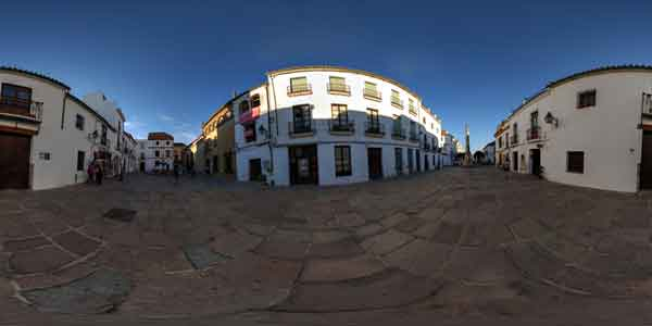 panorama of del potro place in cordoba, andalusia, travel in spain, europe