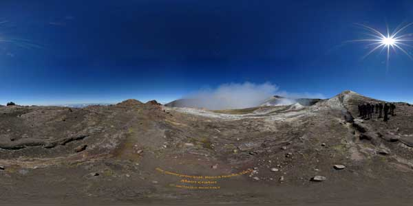 summit of etna in panoramas 360°