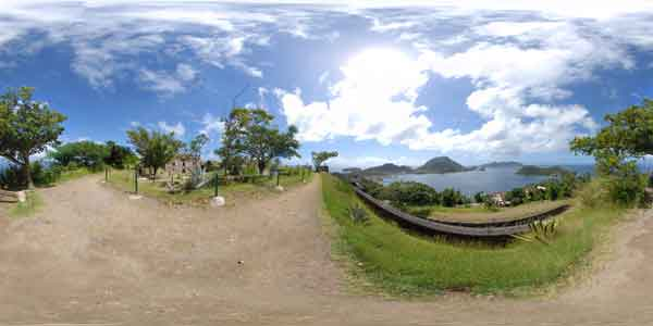 panorama 360° of les Saintes in Guadeloupe