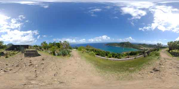 panoramas 360° of the saintes, guadeloupe