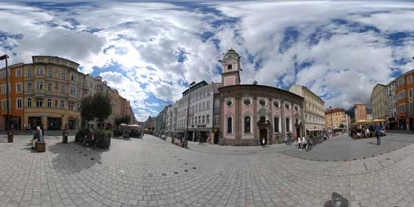 panorama 360° of innsbruck in austria