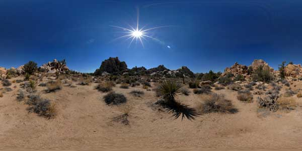 panoramas 360° du joshua tree national park en californie