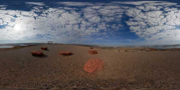 panorama 360° du lac powell en arizona