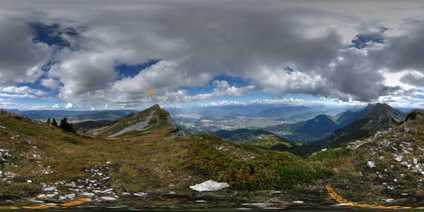 panorama 360° from the pic saint michel in the vercors