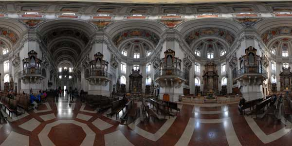 panoramas 360° of saint rupert cathedral of salzbourg