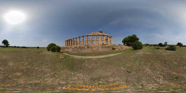 panoramas 360° of selinonte antique city in sicily