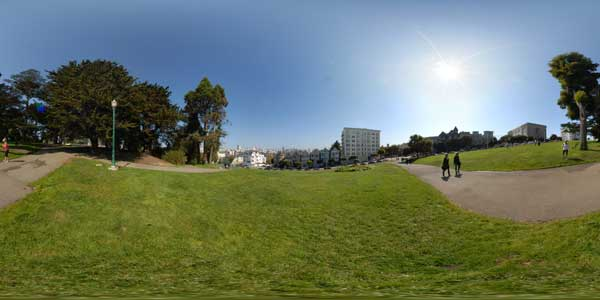 san francisco, alamo square en 360°