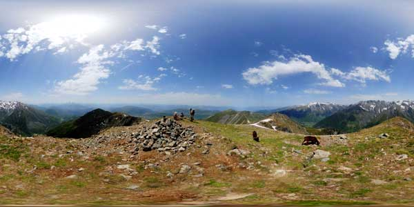 panorama 360° from the summit of  tabor in the massif du taillefer