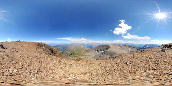 panoramas 360° from the summit of the pyramide dans le massif du taillefer in isere, alps, france