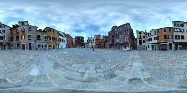 panorama 360° at venice in italy, the campo san stin