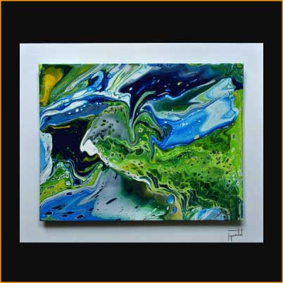 jacques rochet ABSTRACT PAINTING, pouring painting