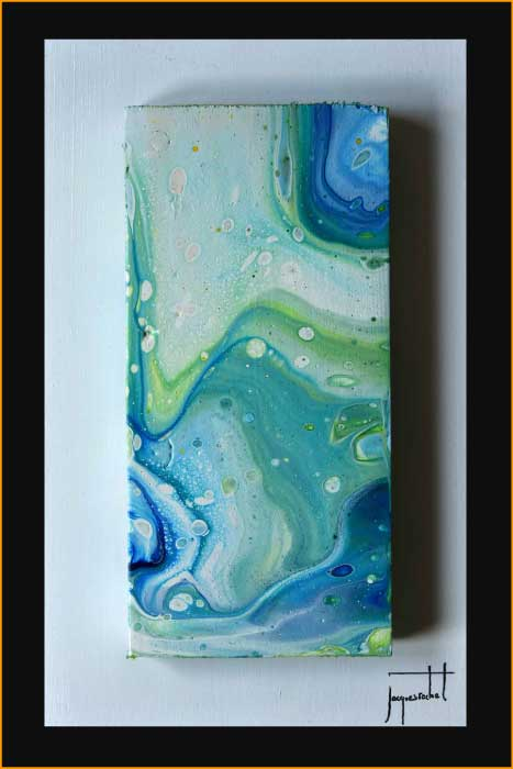 jacques rochet ABSTRACT PAINTING, pouring painting on wood