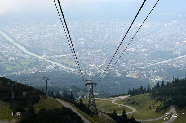 Innsbruck, view from the Hafelekarspitze cable car