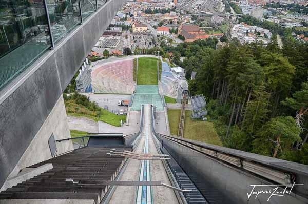 Innsbruck, view from the start of the Bergisel ski jump