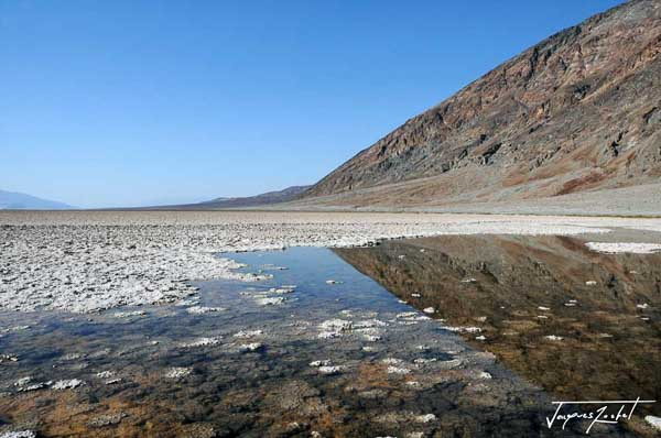 Death valley in california, bad weather is the lowest point within 80 m