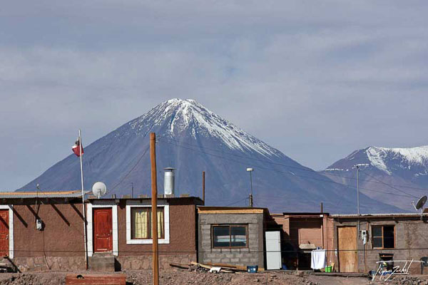 Photo of Chile, Licancabur volcano, 5917 m, seen from San Pedro de Atacama