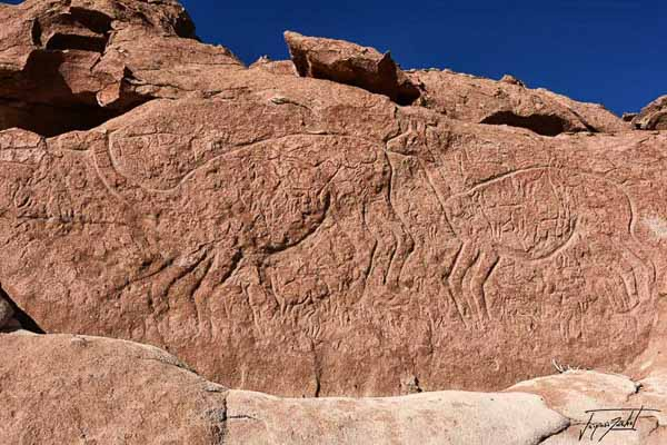 Photo of Chile, the rock carvings of the valley arco iris in the Atacama desert