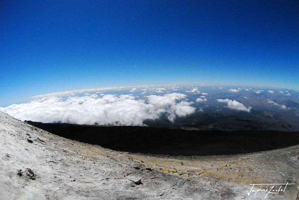View from the summit of Mount Etna in Sicily