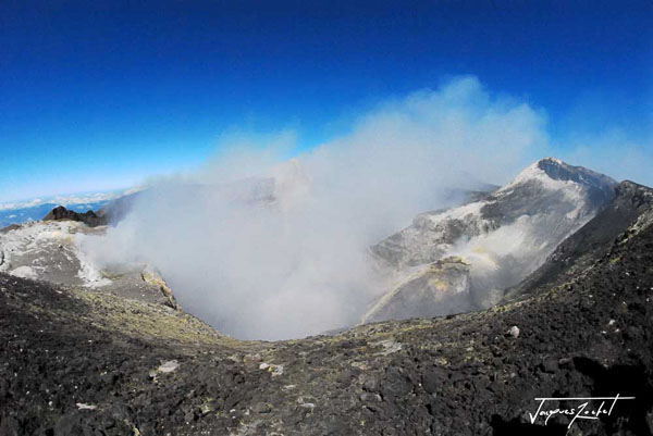 Summit of Mount Etna, main crater