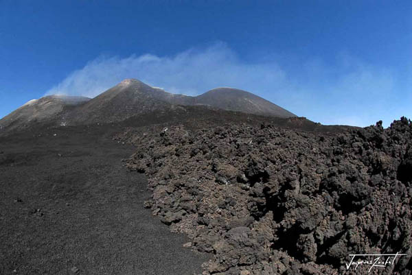 On the slopes of Mount Etna in Sicily