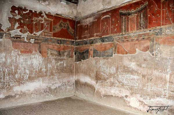 Interior of a house in Herculaneum, ancient Roman city