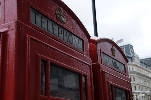 phone booths at London