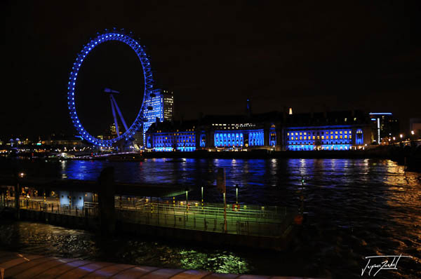 londres de nuit, le london eye