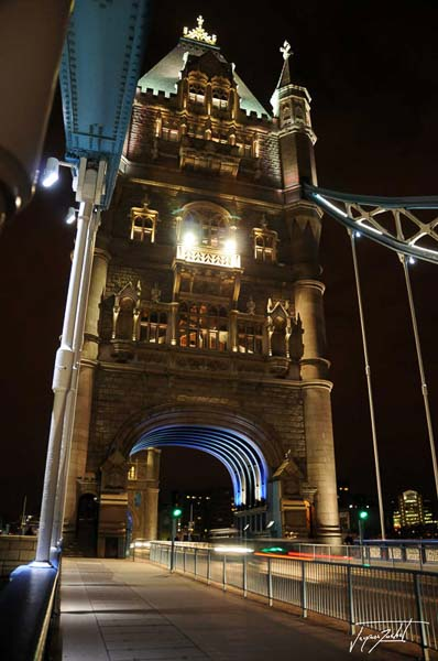 londres, tower bridge de nuit