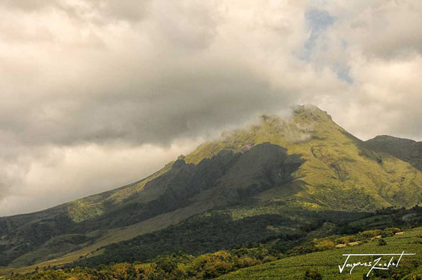 The Pelee mountain in Martinique, the French West Indies