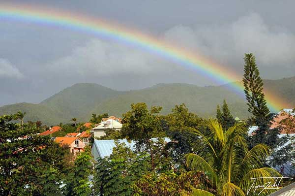 The end of a storm on saint anne in martinique, french antilles