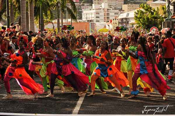 the carnival of Fort De France in Martinique