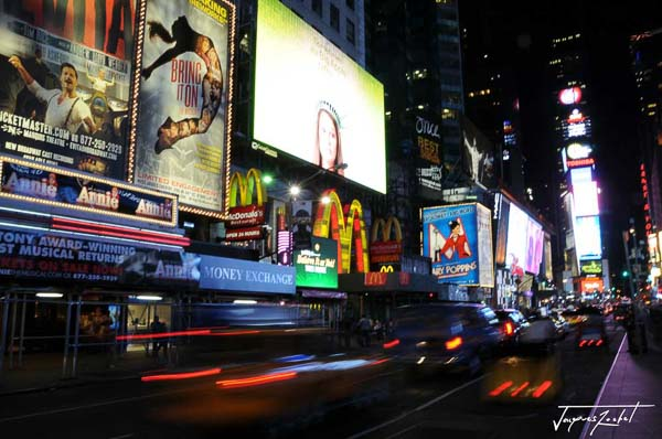 time square by night, new york