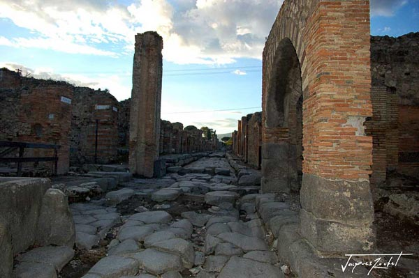 The streets of Pompeii, the ancient Roman city