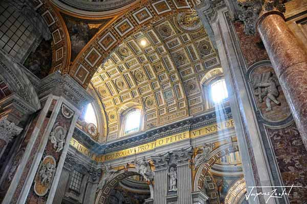 Interior of the basilica saint peter in the vatican