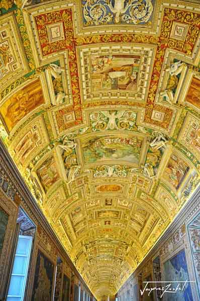 Ceiling of the Gallery of Maps at the Vatican Museum