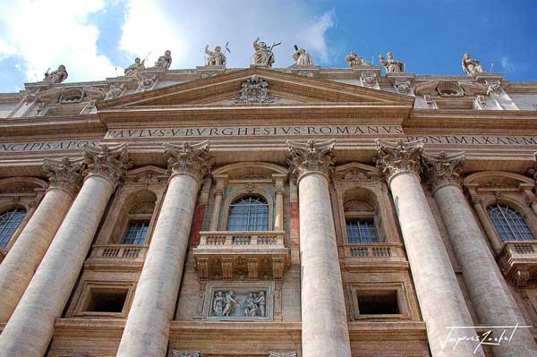 Facade of St. Peter's Basilica in the Vatican