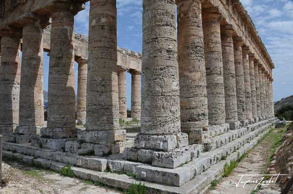 temple antique, Selinunte en sicile