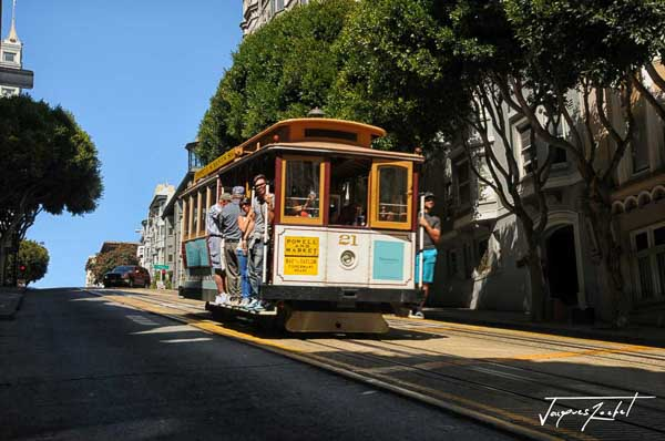 Tramway dans San Francisco en Californie