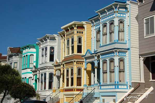 The painted ladies of san francisco in california