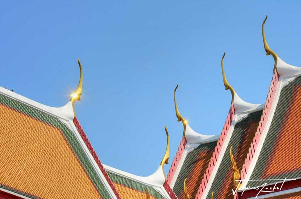 Wat Pho in Bangkok, detail of the architecture